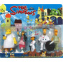 Simpsons Blister X5 Muñecos Ideal Adorno Torta Homero Mirá