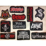 Parches Metaleros Bordados Rock Metal