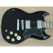 Guitarra Memphis Msg100 Sg Preta, Uni Music 12365 1