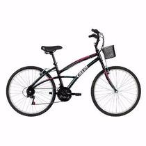 Bicicleta Aro 26 Caloi 100 Sport Feminina Preta