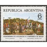Argentina Gj 1702 Independencia Uruguay Serie 1021 Año 1975