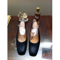 Zapatos Cuero Azul N° 37 (capellada- Forro- Suela, Cuero)