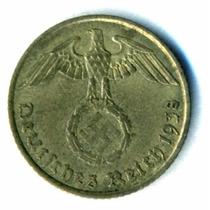 Alemania Nazi Moneda De 5 Pfennig Año 1938 Vf