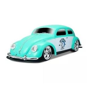 Carrinho Rc Volkswagem Fusca Tunado 1951 R/c 1:10 Az Maisto