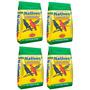 Kit Ração Nativos 5kg Pássaros Sabiá Azulão Com 4 Pacotes
