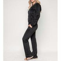 Conjunto De Agasalho Plush Feminino Blusa E Calça