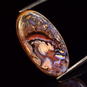Boulder Opalo Cabuchon 31,3 X15,8x4,6 Mm 19,94 Ct