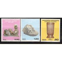 1980 México Serie Mnh Monumentos Prehispánicos Arqueología