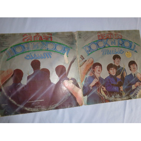 Capa Dupla Do Lp Beatles Rock And Roll 1976, Sem Os Discos