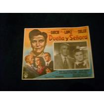 Dueña Y Señora Sara Garcia Domingo Soler Lobby Card Cartel