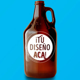 Pallet De Growler De Cerveza Con Tu Logo En Serigrafía