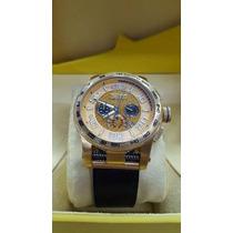 Relógio Invicta S1 15907 Pulseira Couro Quartz Com Caixa