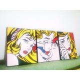 Cuadros Tripticos Roy Lichtenstein - Pop Art Replicas Miro