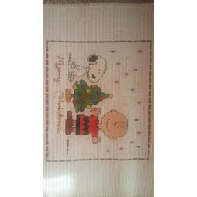 Cuadro De Punto De Cruz Navidad -bordado