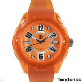 Reloj Tendence E3 Policarbonato Hi-tech, Europeo Naranja L