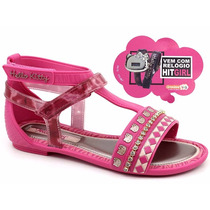 Sandália Hello Kitty 21329 Rosa Loja Pixolé