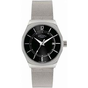 Reloj Rotary Plateado Masculino Wref86