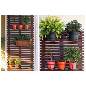 Jardim Vertical Deck Treliça De Madeira Para Vasos 50cmx1m