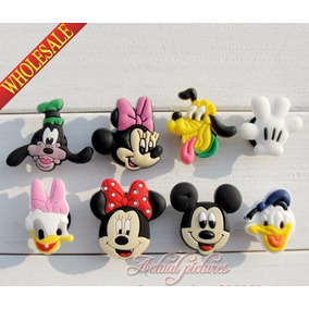 Combo 8 Pines Jibbitz 3d Disney Para Crocs Minnie Mickey Eg