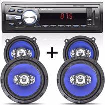 Rádio Mp3 Automotivo + Kit Falante 5 E 6 Gol G3 G4 G5 G6