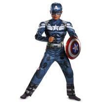 Disfraz Marvel Capitán América Traje De Los Niños Soldado D