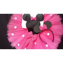 Conjunto Tutu Cumpleaños Minnie Fiesta Disfraz