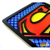 Quadro Super Heróis Geek Nerd 30x30cm Placa