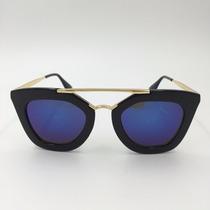Óculos Sol Feminino Retro Gatinho Geométric Quadrado Vintage