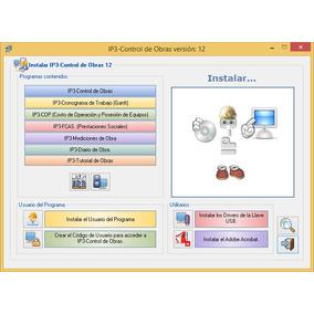 Ip3 Version 12 Full Control De Obra Con Bdd De Este Mes*