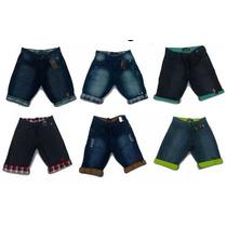 Kit Com 5 Bermudas Jeans Masculinas Atacado Shorts Revenda