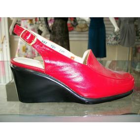 Zapatos Rojos Suela Corrida 100% Piel 3.5 Mex Suavecitas
