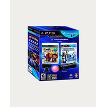 Kit Move Ps3 + Eyepet + Sports Champions En Caja Xstation