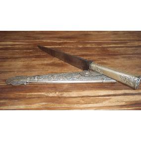 Antiguo Cuchillo Criollo Plata Facon Hoja Defensa No Dufour