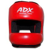 Careta Para Boxeo De Piel Con Barra Protectora Adx - Talla S