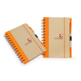 Kit X2 Notebook Trim Libreta Ecologica-natural/naranja