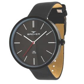 Relógio Masculino Backer 3552112m Pr Nurnbeg Couro