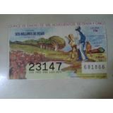 Billete De Loteria Antiguo Niños Beis 15 Enero 1975 México