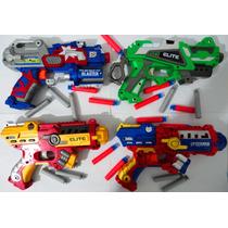 Kit Com 4 Super Armas Nerf Que Atira Dardos Vingadores