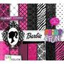 Kit Digital Papéis Scrapbook Barbie