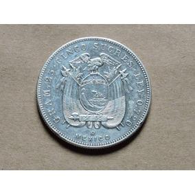 Equador 5 Sucres 1943 25 Gr Prata 720