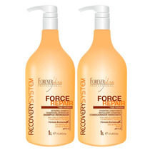 Kit Shampoo E Condicionador Force Repair 1 Litro Foreverliss