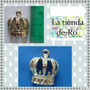 Dije Corona Concava/metal/princesas-15 Años-scrapbook/ 5 Uni