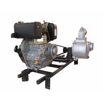Motobomba 2x2 Acoplamiento Por Polea Motor Diesel 8.5hp