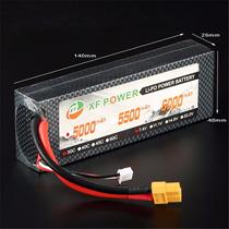Bateria Lipo 7,4v 2s 5000mah 30c Hardcase Automodelo