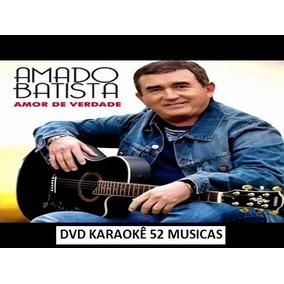 1 Dvd Karaokê Amado Batista Coletânea Com 52 Musicas Cd