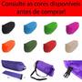 Confortável Saco Sofá Puff Inflável Camping Tipo Lay-bag