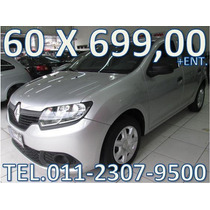 Renault Sandero Flex Modelo Novo Entrada + 60 X 699,00 Fixas