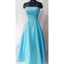 Vestido De Quice Años Color Azul Talla M Americano Origin