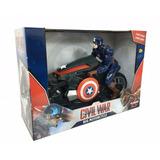 Moto A Friccion Con Capitan America 30cm Marvel Casa Valente