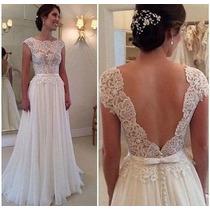 Vestido De Noiva Importado Civil Igreja Sob Confecção